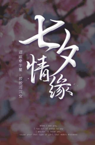 淡雅七夕节表白旅行恋爱日记电子相册模板