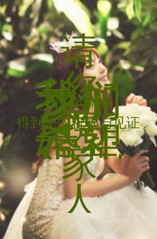 婚礼请柬森林浪漫风格婚礼邀请函时尚浪漫结婚请帖婚礼请柬