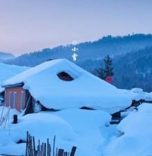 小雪中的农事活动