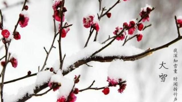 大雪时节的三候